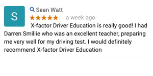 Driving instructor Lilydale review - X Factor Driving School