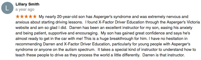 Mooroolbark Driving instructor - X Factor Driving School